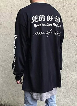 FOG X MAXFIELD Lettering Long T Black/White(2colors)