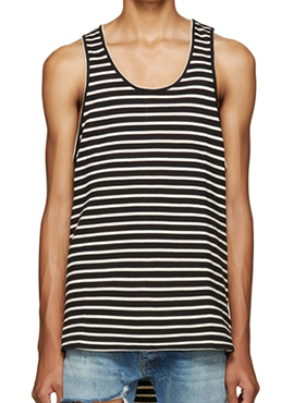 RD F X S Striped Sleeveless T-shirts (2colors)