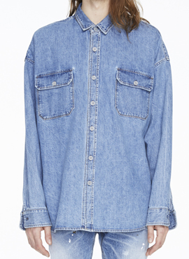RD F. Denim Oversized Shirt (Same Material)