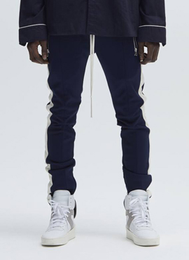 RD F. Double Striped Track Pants Navy