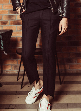 RD Cut Off Slacks(Black / Check)