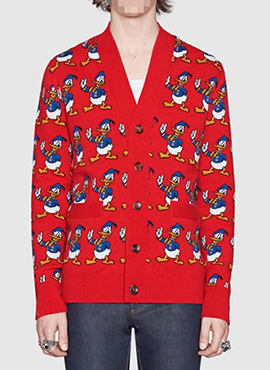 RD  G.Donald Duck Wool Cardigan