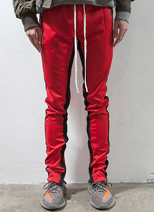 RD F.Double Stripe Track Pants Red