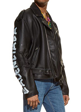 RD B. Printing Leather Jacket