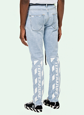 RD 18ss OW. Temperature Denim Pants