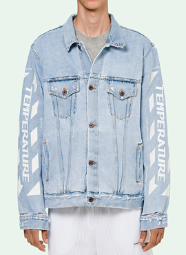 RD OW. Printing Denim Jacket