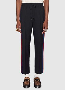 RD 18ss G. Sideband Wool Trouser Black