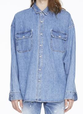 (30% off) RD F. Denim Oversized Shirt (Same Material)
