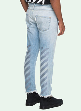 RD OW. Embroidery Bleach Blue Jeans