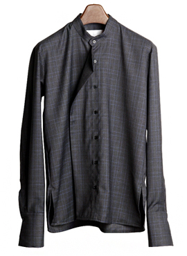 (50% off)Beside Placket Check Shirt