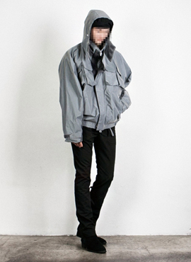[Beside]Multipocket Scotch Shell Parka