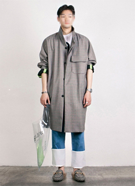[Beside] Trench shirt(2colors)