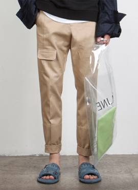 RD 18ss W. Beige Pocket Pants