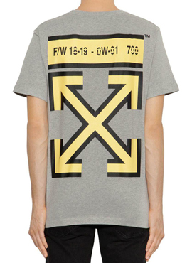 RD 18aw OW. Grey Arrows Logo T-Shirt