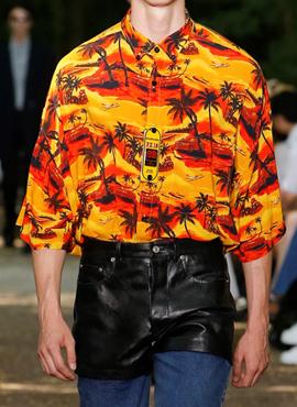 RD B. Orange Norm Fit Hawaiian Shirt