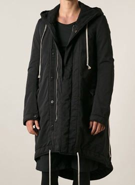 RD  R. Black Fishtail Parka
