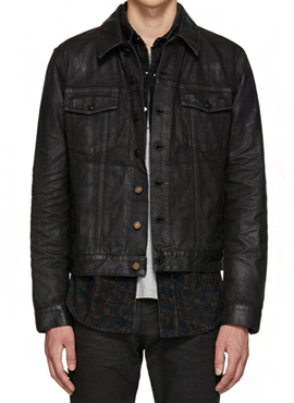 RD 18fw S.Black Coated Denim Jacket