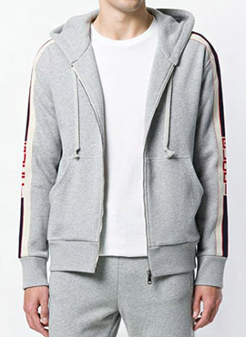 RD 18fw G. Technical Hooded Zip-up Grey