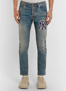 RD 18fw G. Blue NY Patch Jeans