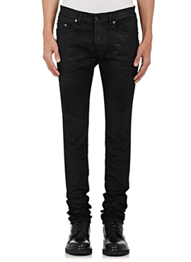 RD 15fw S. Black Coated Jeans