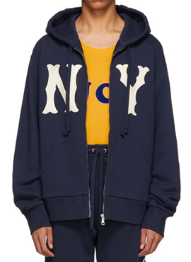 RD 18fw G. NY Patch Zip-Up Hoodie
