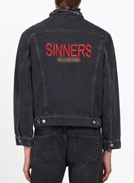 RD 18ss B.Sinners Denim Jacket