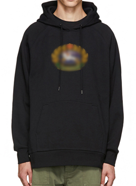 RD 18fw Bur. Esker Crest Logo Hoodie(2colors)