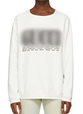 RD 18fw G. Ivory Cities Sweatshirt