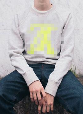 RD 18fw LV. Upside Down Logo Sweatshirt