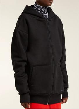 RD 18fw B. Black Oversized Zip Up Hoodie