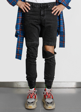 [Defond]  Velcro Jogger Pants